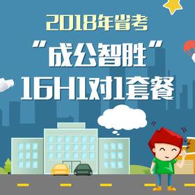 """【预售】2018年广东省公务员考试""""成公智胜""""16H1对1套餐"""