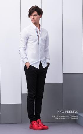 长袖上衣:M704DC1325¥499; 长裤:M704HC1327¥499
