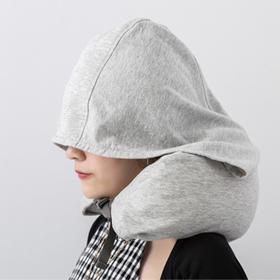A【旅行必备】无印同款连帽多功能U型枕  一物多用  护颈助眠 越睡越舒服