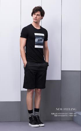 短袖上衣:M704VA1341¥299; 短裤:M703GA1172¥499