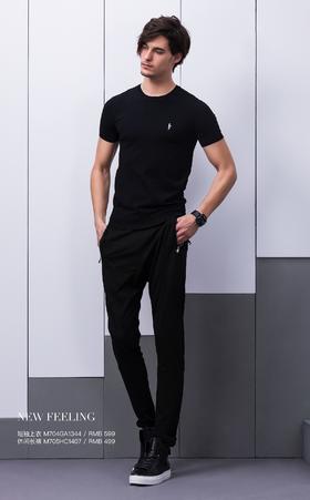 短袖上衣:M704GA1344¥599; 休闲长裤:M705HC1407¥499