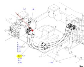 P1主泵液压油管330/350/380