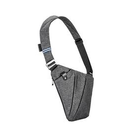 FINO小飞数码收纳枪包男士胸包斜挎运动休闲腰包多功能商务单肩包