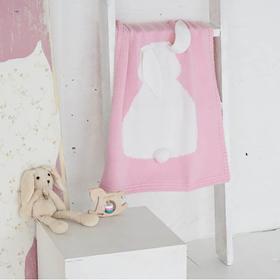 magic channel 可爱兔子针织毛线毯子空调毯 欧式沙发盖毯