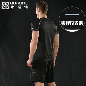 B /运动套装男夏季跑步健身服短袖五分短裤速干t恤运动服装休闲套装