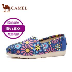 【单双99元  119元2双 需同时拍下2双】骆驼女鞋 春季新款女帆布鞋老北京布鞋休闲单鞋潮W71339527