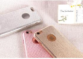 苹果iphone7闪粉手机壳XO硅胶保护壳软壳7plus全包防摔保护套潮女 sister系列