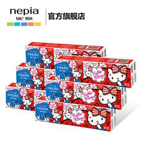 妮飘迷你纸手帕手帕纸 Hello Kitty印花纸巾餐巾纸 3层10包6条装