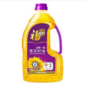 福临门压榨一级葵花籽油1.8L