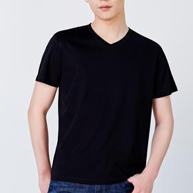 【一件穿在身上的空调】本米50支双丝光棉V领T恤