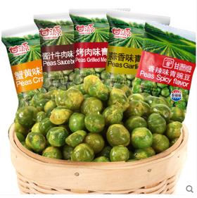 甘源青豆甘源牌青豌豆500g蒜香蟹黄味香辣味