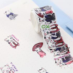 创意忍者情侣猫异形和风纸胶带  文具