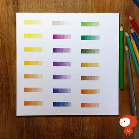 【飞乐鸟自制】油性彩铅纸专用纸 独家 纯白绘画纸 方形纸 21厘米