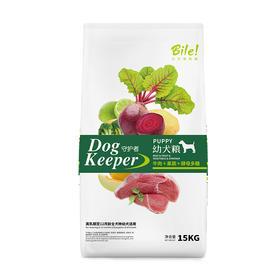 比乐 天然原生牛肉+果蔬+酵母多糖幼犬粮15kg