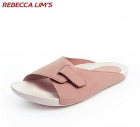 日系懒 人一字拖鞋男女款防滑按摩底居家休闲拖鞋轻便舒适沙滩鞋