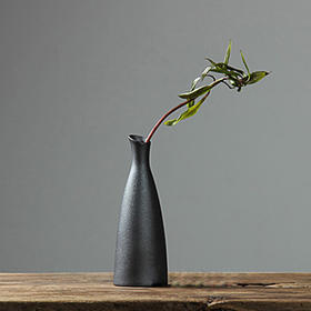 日式粗陶花瓶