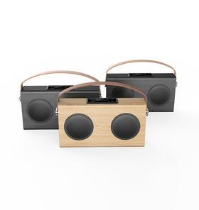 avwoo木质蓝牙音箱带移动电源便携低音炮高档礼品音箱户外音响 A006