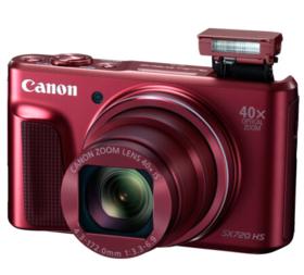 佳能(Canon)PowerShot SX720 HS 数码相机(2030万像素 40倍光变 24mm超广角)红色