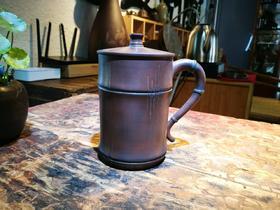 建水紫陶竹节杯