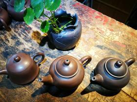 建水紫陶手工素壶
