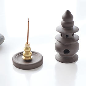 weis 陶瓷倒流香炉创意香薰炉家用香座塔香炉小号线香炉小香插炉