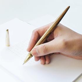 WEIS时梭之笔金属黄铜实木办公用笔中性笔商务签字笔刻字父亲节
