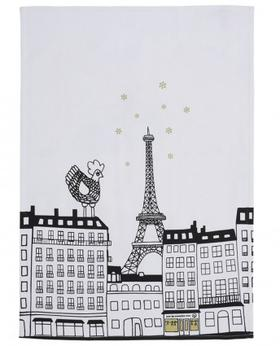 Cocotte 巴黎印花茶巾