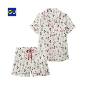gu睡衣迪斯尼合作款少女可爱夏季女士宽松两件套装女/M