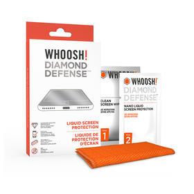 加拿大WHOOSH!DIAMOND DEFENSE纳米液体手机贴膜 屏幕坚固15倍|防摔防刮防撞击|无气泡