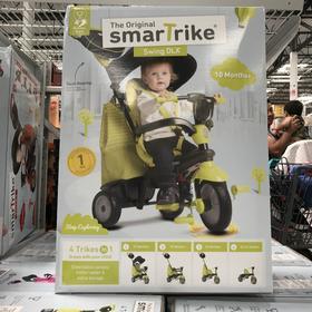美国直邮 Smartrike 宝宝安全推车脚踏车儿童自行车 四合一