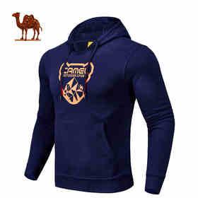 骆驼运动 男款带帽卫衣套头束腰休闲运动卫衣C7W2S3606