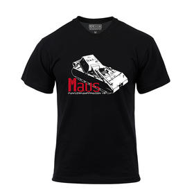 【装甲精英】 德国鼠式黑色主题T恤