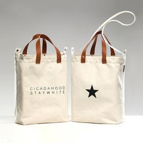 CICADAHOOD法国小牛皮手挽帆布TOTE袋|2 款