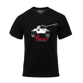 【装甲精英】 德国豹式黑色主题T恤