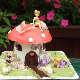 焙宗教学视频 梦幻蘑菇房子蛋糕工具包 材料包 小骏老师推荐