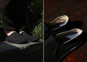 黑色男女同款千层底布鞋