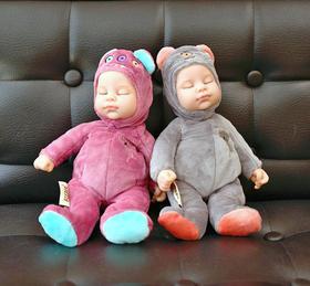 bieber比伯娃娃正品 仿真宝宝睡眠安抚娃娃玩偶睡觉婴儿毛绒玩具