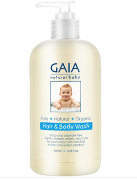 Gaia 婴儿天然洗发沐浴液(二合一) 500ml