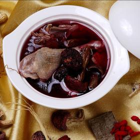 红菇炖河田鸡