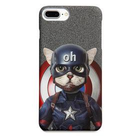 潮猫手机壳系列 队长猫 iPhone手机壳
