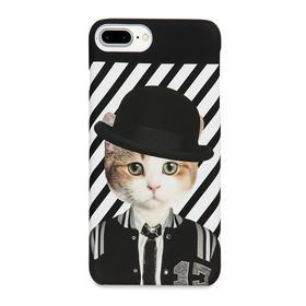 潮猫手机壳系列 学霸猫 iPhone手机壳