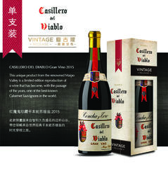 【埃森哲专属】红魔鬼珍藏卡本妮苏维翁,智利 【Accenture Gift 】Casillero del Diablo Gran Vino