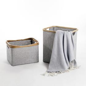 纳谷 | Domain系列布艺竹边脏衣篮