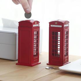 复古欧式电话亭存钱罐 生日礼物创意家居摆件    文具
