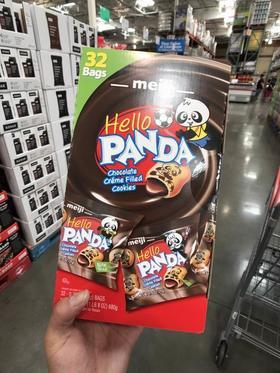 美国直邮 明治meiji Hello PANDA熊猫巧克力奶油夹心饼干32包680g