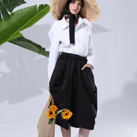 个性纯棉黑色半身裙