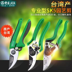 老A台湾进口园艺剪刀8寸树枝剪刀果枝剪园林剪刀修花剪刀修枝剪刀