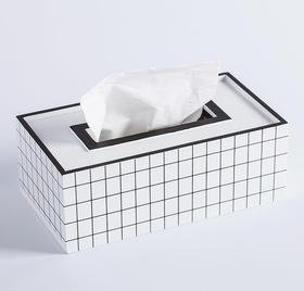 纳谷 | Domain 黑白格纹纸巾盒