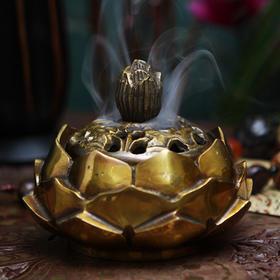 印度香具铜制莲花香炉