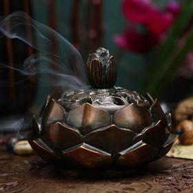 印度香具 铜制莲花香炉